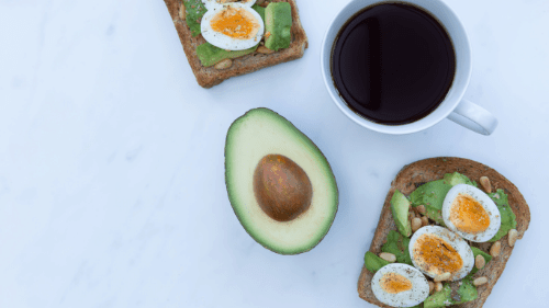 Breakfast with avocado