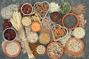 A picture of different grains