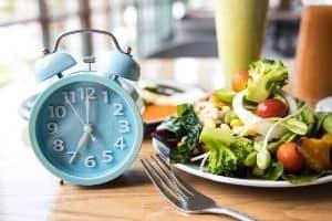 Food next to clock