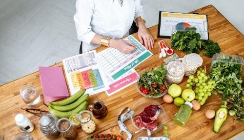 woman making a meal plan