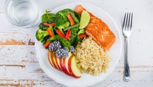 healthy food on plate