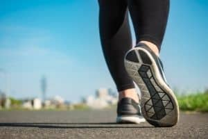 woman walking with sport shoes