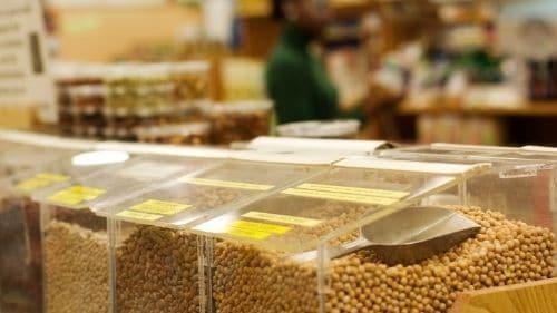 bulk bin in food store